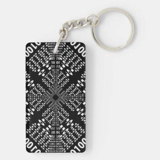 Black & White Binary Fractal Acrylic Key Chains