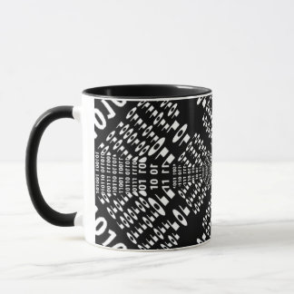 Black & White Binary Fractal Mug
