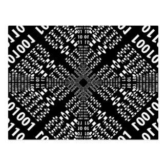 Black & White Binary Fractal Postcard