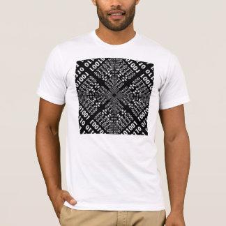 Black & White Binary Fractal T-Shirt