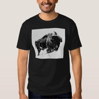 Black & White Bison / Buffalo Shirt