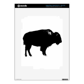 Black & White Bison Buffalo Silhouette Pop Art iPad 3 Decal