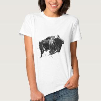Black & White Bison / Buffalo Tee Shirt