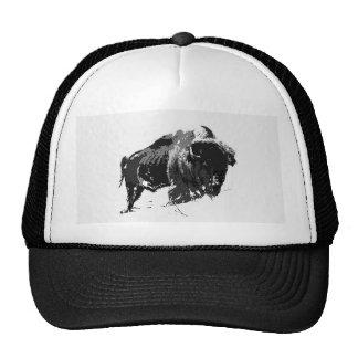 Black & White Bison / Buffalo Trucker Hat