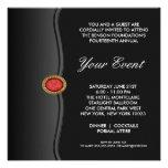 Black White Black Tie Corporate Party Event Personalized Announcement