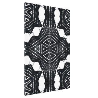 Black&white Bling Pattern Canvas Print
