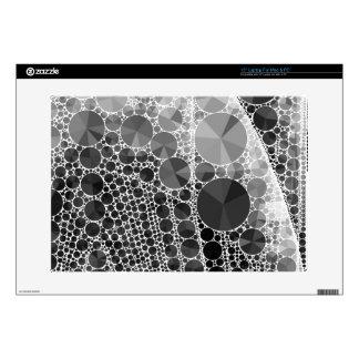 Black White Bling Pattern Skins For Laptops