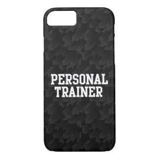 Black/White Block Personal Trainer iPhone 8/7 Case