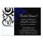 Black, White, Blue Swirl Bridal Shower / General Custom Announcements
