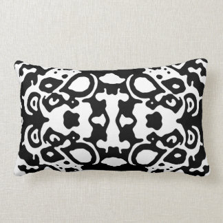 "Black & White ""Blurred Lines"" Lumbar Pillow"