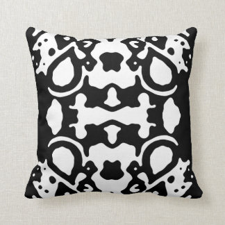 "Black & White ""Blurred Lines"" Throw Pillow"