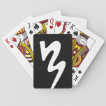 """Black &amp; White BMB Logo Playing Cards<br><div class=""""desc"""">A deck of playing cards featuring the BMB logo in black and white</div>"""