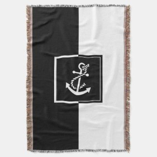 Black & White Boat Anchor Geometric Design