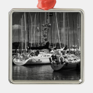 Black & White Boats photography ornament