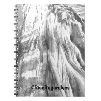 Black & White Bondi Cliffs Notebook