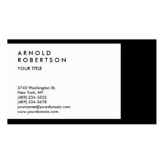Black White Border Professional Business Card
