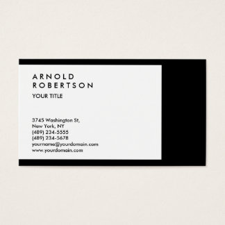 Black White Border Professional Business Card