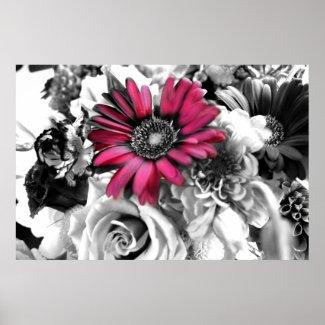 Black & White Bouquet print
