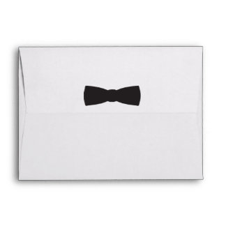 Black & White Bow Tie Tuxedo Boys Party Envelope