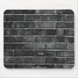 black & white brick wall texture mouse mat