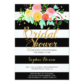 Black & White Bridal Shower Invitation