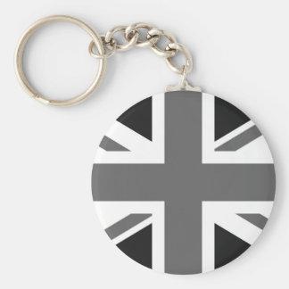 Black & White British Flag Keychain