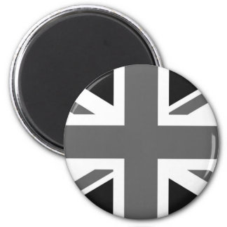 Black & White British Flag Magnet