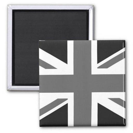 Black & White British Flag Refrigerator Magnet