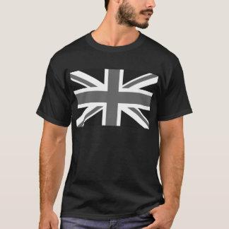 Black & White British Flag T-Shirt