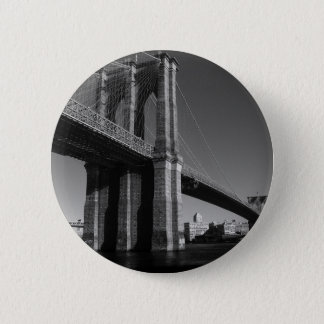Black & White Brooklyn Bridge Button
