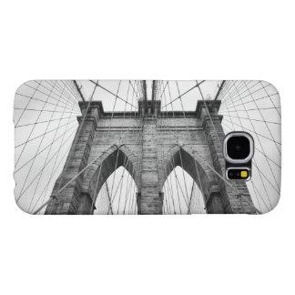 Black & White Brooklyn Bridge Close up Photo Samsung Galaxy S6 Cases