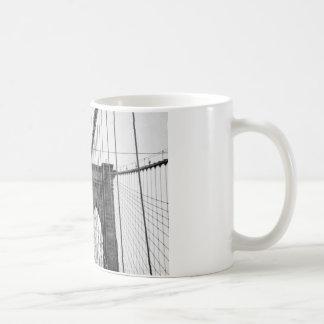 Black White Brooklyn Bridge New York Coffee Mug