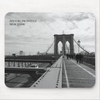 Black White Brooklyn Bridge - NY New York nr 1 Mouse Pad