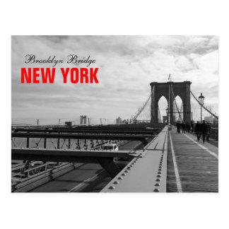 Black White Brooklyn Bridge - NY New York nr 1 Postcard