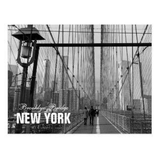 Black White Brooklyn Bridge - NY New York nr 2 Postcard