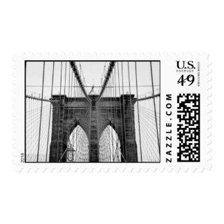 Black & White Brooklyn Bridge Postage Stamp