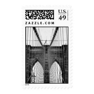Black & White Brooklyn Bridge Stamp