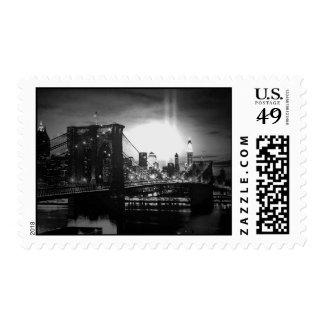 Black & White Brooklyn Bridge Postage Stamps