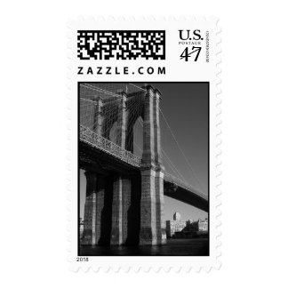 Black & White Brooklyn Bridge Postage Stamps