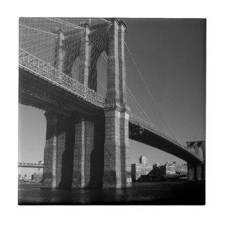 Black & White Brooklyn Bridge Tile