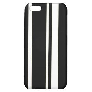 BLACK WHITE BROWNISH ORANGE STRIPES PATTERN CASE FOR iPhone 5C