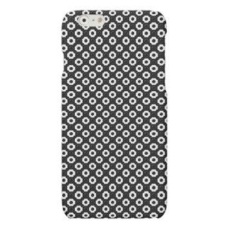 Black & White Bubbles Polka Dots Pattern Matte iPhone 6 Case