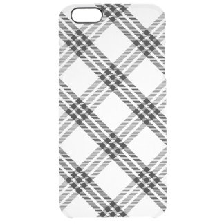 Black & White Buffalo Check Clear iPhone 6 Plus Case