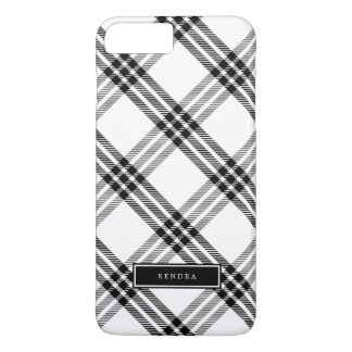 Black & White Buffalo Check iPhone 8 Plus/7 Plus Case