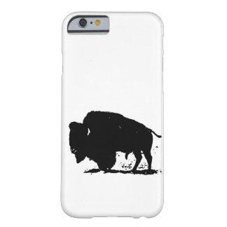 Black & White Buffalo Silhouette iPhone 6 Case