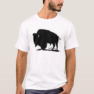 Black & White Buffalo Silhouette T-Shirt