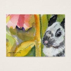 Black & White Bunny Aceo Atc Art Card at Zazzle