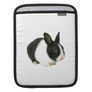 Black & White Bunny Rabbit Rickshaw Sleeve Sleeve For iPads