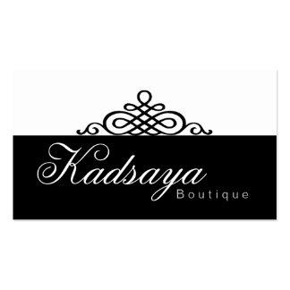 Black White Business Card BW 1 Kadsaya Retail