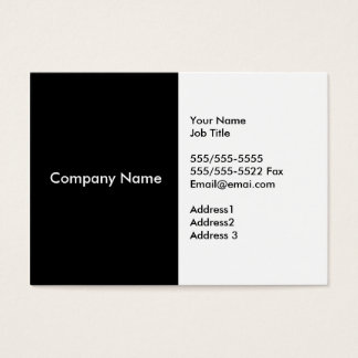 Black White Business Cards